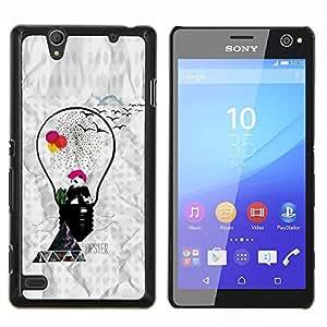 Hipster Panda- Metal de aluminio y de plástico duro Caja del teléfono - Negro - Sony Xperia C4 E5303 E5306 E5353