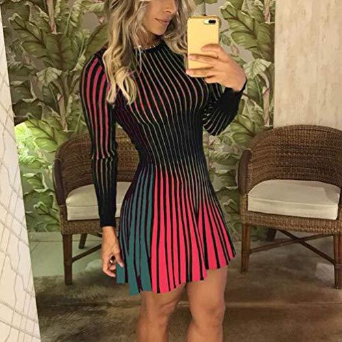 Fcgv Maniche SexyVerdem Vestito Da Con Abito Lunghe Elegante Donna 9bWEHeIYD2
