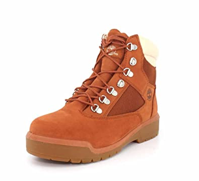 Timberland Mens 6-inch Waterproof Field Burnt Sienna Boot - 7