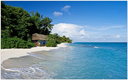 Maldives-tropical-sea-beach-palm-trees-hut travel sites Postcard Post - Site Hut