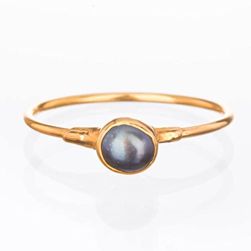 Pearl 14k Gold Pearl Ring Size 5