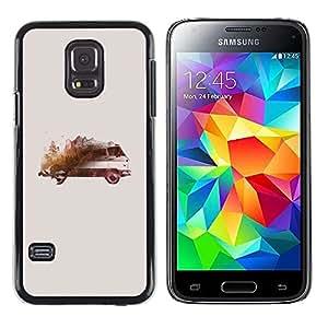 Exotic-Star ( Bus Art Watercolor Painting ) Fundas Cover Cubre Hard Case Cover para Samsung Galaxy S5 Mini / Samsung Galaxy S5 Mini Duos / SM-G800 !!!NOT S5 REGULAR!