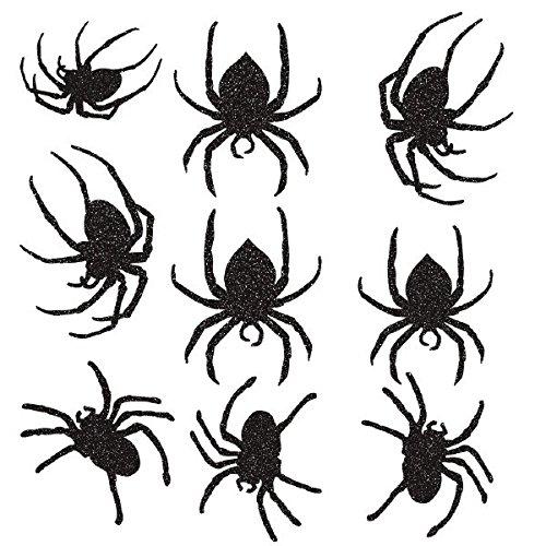 Amscan Glitter Paper Spider Cutouts -