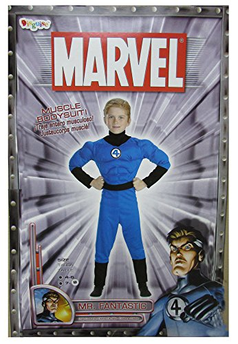 The Fantastic 4 Costumes (Mr. Fantastic Muscle Bodysuit-Size 7-8)