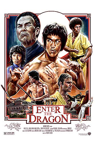 (MCPosters - Bruce Lee Enter The Dragon Glossy Finish Movie Poster - MCP517 (24