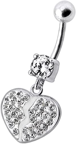 CZ Stone Multi Crystal Stone Flower 925 Sterling Silver Belly Button Piercing Ring Jewelry