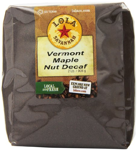 - Lola Savannah Vermont Maple Nut Ground Coffee - Arabica Beans with Just A Hint Of Nut Flavor | Decaf | 2lb Bag