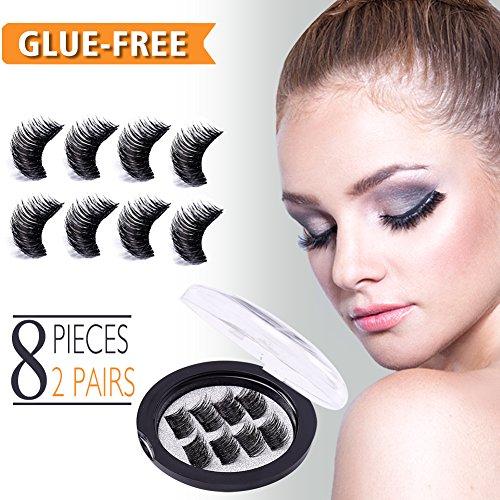 facabc69356 Magnetic Eyelashes, Fake Eyelashes Extensions No Glue Reusable 3D Mink  Lashes Kit Natural Look Beauty