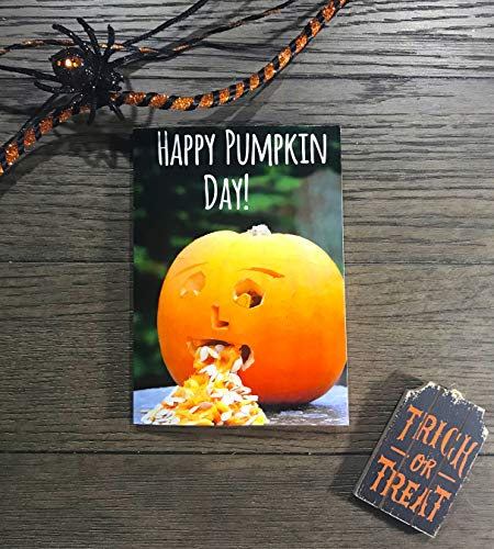 Happy Pumpkin Day Halloween Handmade Greeting -