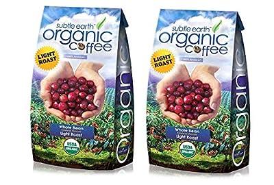 5LB Cafe Don Pablo Subtle Earth Organic Gourmet Coffee - Light Roast - Whole Bean Coffee - USDA Certified Organic Arabica Coffee - (5 lb) Bag