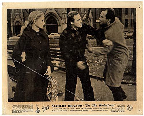 On The Waterfront Original Lobby Card Marlon Brando Eva Marie Saint 1953