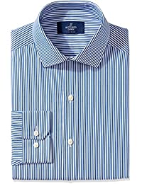 Men's Fitted Pattern Non-Iron Dress Shirt (3 Collars Available)