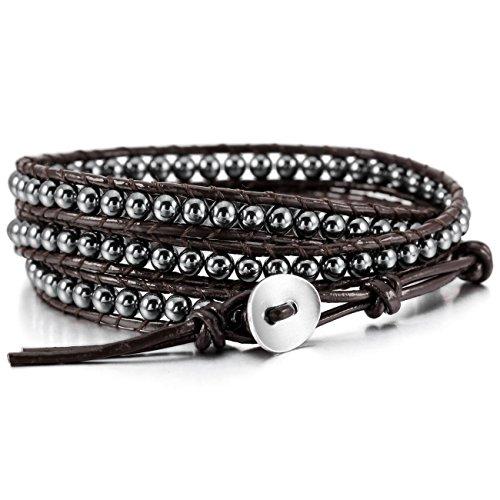 mowom-alloy-genuine-leather-bracelet-bangle-cuff-rope-simulated-hematite-bead-3-wrap-adjustable
