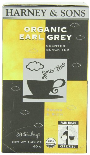 Harney & Sons Black Tea, Organic Earl Grey, 20 Tea Bags -