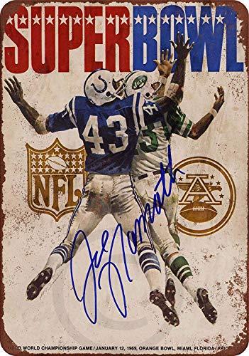 New Tin Sign 1969 Super Bowl Jets vs. Colts Aluminum Metal Sign 8x12 - Bowl Super Sign