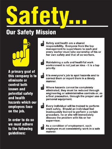 Accuform Signs PST220 Safety Awareness Poster,