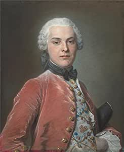 polyster Canvas ,the Amazing Art Decorative Prints on Canvas of oil painting 'Maurice Quentin de La Tour Henry Dawkins ', 10 x 12 inch / 25 x 31 cm is best for Powder Room decor and Home decor and Gifts