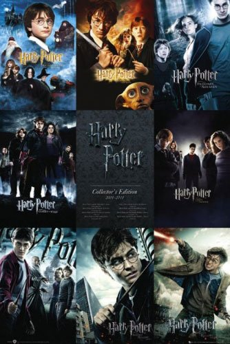 Harry Potter 1-7 - Movie Poster / Print