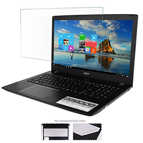 "15.6"" Glass Screen Protector+ Large Cleaning Cloth for All 16:9 Aspect Ratio Laptop [Lifetime Risk-Free Replacement Warranty]"