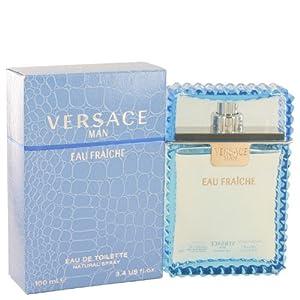 Versace Man by Versace Eau Fraiche Eau De Toilette Spray (Blue) 3.4 oz for Men 100% Authentic