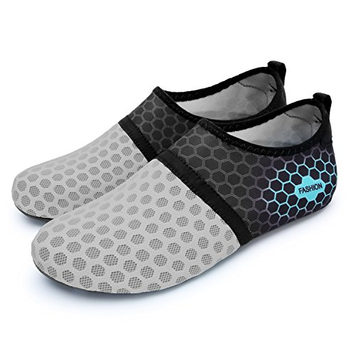 Aqua Skin RUN Swim Shoes Outdoor grey Water Dot Shoes Mens Womens Barefoot Shoes L Athletic Y1wTa0qw