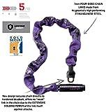 Kryptonite Keeper 785 Integrated Bicycle Lock Chain Bike Lock, 33.5-Inch, Purple