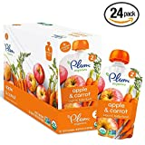 Plum Organics Second Blends, Carrot Apple, 4.0 Ounce (Pack of 24) (Apple and Carrot Value Pack 24 Pouches)
