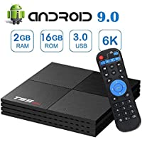 Android 9.0 TV Box, T95MINI Android Boxes with 2GB RAM 16GB ROM Quad-core Support 6K Full HD/Wi-Fi 2.4Ghz/ USB 3.0/ H.265 Decoding Smart TV Box (EASYTONE 2019 Newest)
