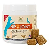 WE GUARANTEE, that our chews will provide your best friend with hip and joint PAIN RELIEF and improve his mobility! He can be more active, pain-free, feel like his old self again. *If you hate giving your dog medication - this is a product for you!* ...