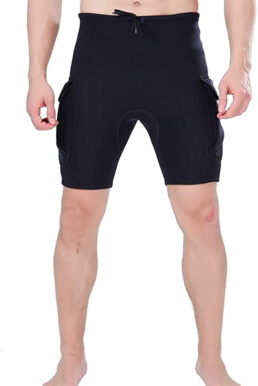 Wetsuit Shorts Men With Pocket Oversize 3mm Neoprene Diving Surfing Spearfishing