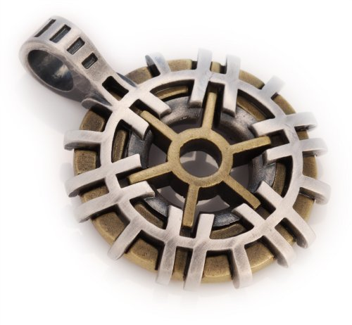 Bico Architect (TT6) - Well Grounded, a Rock - Silver with Brass, Copper or Black Toned Tribal Pendant