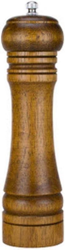 Ndier Pepper Grinder Pepper Mill Madera s/ólida con Fuerte Amoladora de cer/ámica Ajustable Manual Multi-funci/ón Pepper Grinder Cocina Multifunci/ón Cruet Tool Style-1