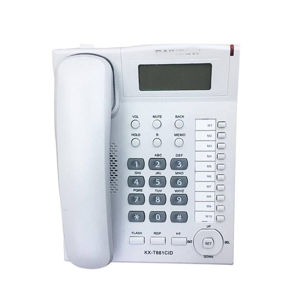 LCM Telephone/Home Office Landline Business Caller ID Double Interface Battery Free Extension (Color : White) by LCM