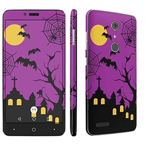 ZTE [Zmax Pro] Phone Skin - [SkinGuardz] Full Body Scratch Proof Vinyl Decal Sticker with [WallPaper] - [Halloween] for ZTE [Zmax Pro] [Carry -