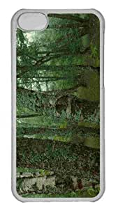 Customized iphone 5C PC Transparent Case - Trees Dual Monitor Personalized Cover by mcsharks