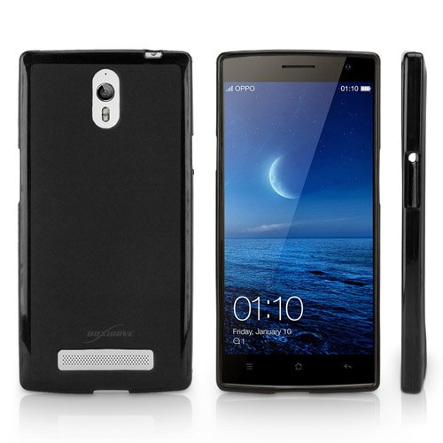 BoxWave Blackout Oppo Find 7 Case - Durable Slim-Fit Black TPU Case with Stylish Dual Glossy and Matte Finish - Oppo Find 7 Cases and Covers