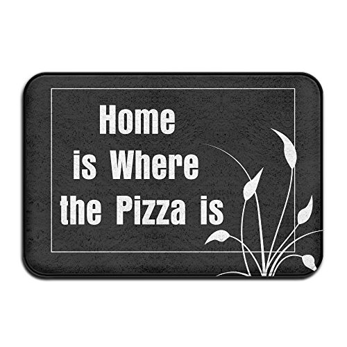 Home Is Where The Pizza Is Indoor Outdoor Entrance Printed Rug Floor Mats Shoe Scraper Doormat For Bathroom, Kitchen, Balcony, Etc 16 X 24 - The Snow Is The Where Fuck
