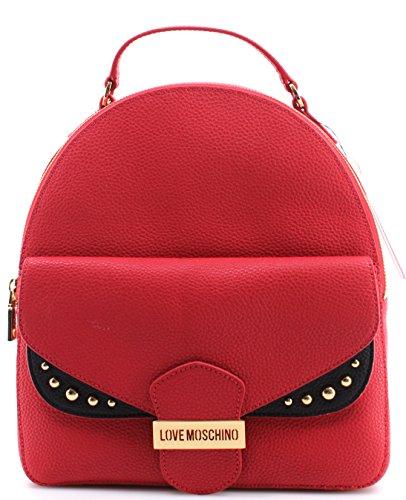 Pebble Taschen Mix Rucksack Borsa Nero Calf Damen MOSCHINO LOVE Rosso Leder Neu A6XSqnx