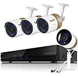 ELEC 8-Channel 1080N CCTV Security Camera System,720P AHD DVR Recorder with (4) 2000TVL Indoor/Outdoor Weatherproof Surveillance Cameras,No Hard Drive