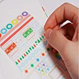 #10: ShareProfit Transparent Calendar Scrapbook Diary Book Decor Paper Planner Sticker