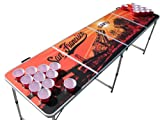 San Francisco Beer Pong Table with Holes, 2x8, Aluminum, Portable