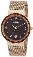 Skagen Women's SKW2068 Leonora Quartz 3 Hand Date Stainless Steel Rose Gold Watch from Skagen