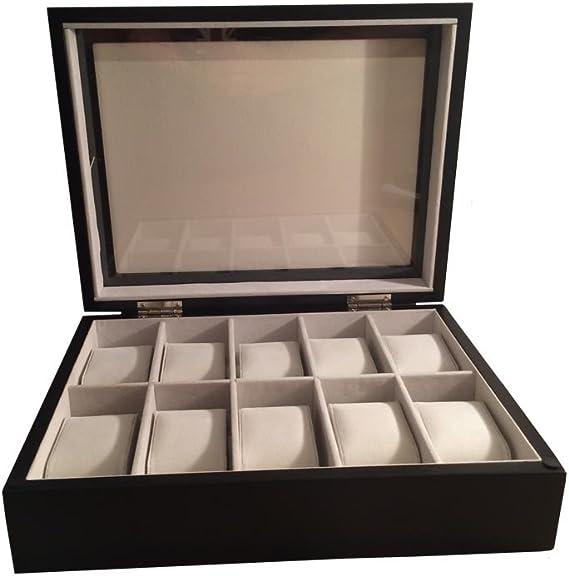 Zabelini Caja Negra de Madera para 10 Relojes: Amazon.es: Relojes