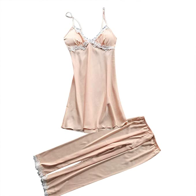 TIFIY Sexy Conjuntos Vestido Pantalones Mujer Erótico Lace Talla Grande Lenceria Babydoll Interior Ropa de Dormir