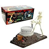 "Grinding Skeleton Piggy Bank for Boys & Girls, ""Ghost Go"" Saving Money Box Coin Bank,Plastic 10.2-Inches"