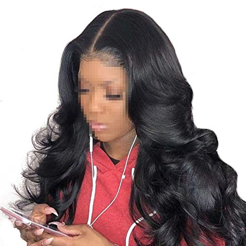 Lace Front Human Hair Wigs For Women 250% Density Body Wave Lace Front Wigs Pre Plucked Hair,18inches