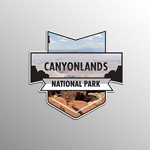 JMM Industries Canyonlands National Park Vinyl Decal Sticker Car Window Bumper 2-Pack 4.7-Inches by 4.4-Inches Premium Quality UV Protective Laminate NPS009