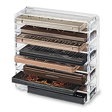 Acrylic Palette Organizer (Standard Sized Palettes) & Beauty Care Holder Containes 8+ Space Storage | byAlegory (Clear)