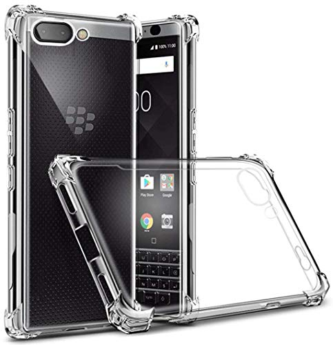 AMZER Shock Absorption Bumper Anti Scratch Soft Gel TPU Silicone Case Skin for BlackBerry Key2 - Crystal Clear Raised Bezel, Shock Absorption, Ultra ()