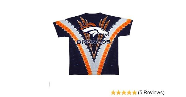 Amazon.com   Denver Broncos Logo V Tie Dye T-shirt   Athletic T Shirts    Sports   Outdoors 14ffa2f51